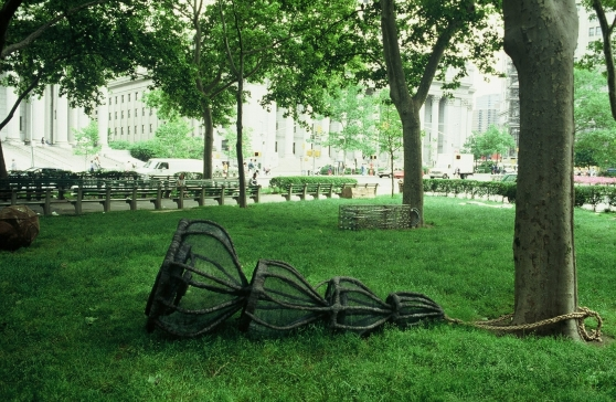 A Community of Shelter, 1992, Thomas Paine Park, New York, NY Installed in Thomas Paine Park in lower Manhattan from June-November 1992, now in the collection of the Hillwood Art Museum, on the grounds of C.W. Post College, Long Island, NY
