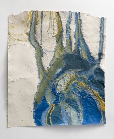 Duct, 2008, Paper pulp and handmade paper, 39 x 31 inches