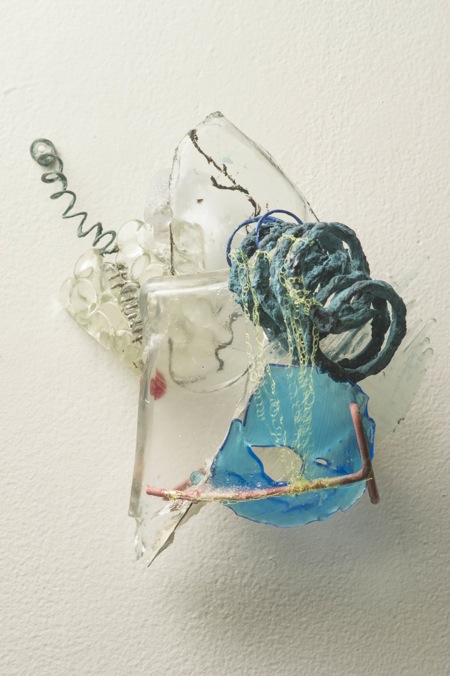 What We Both of Us Touch , 2012, Metal, glass, resin, handmade paper, monofilament