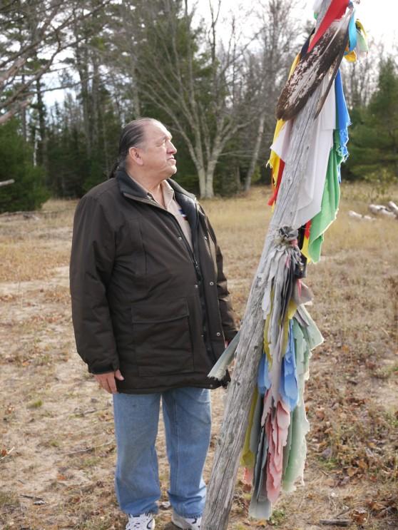 Shaman With Prayer Pole