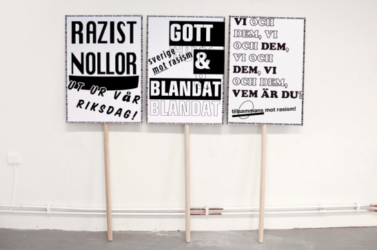 """Anti-racism"" A typographic study of demonstration signs throughout history"