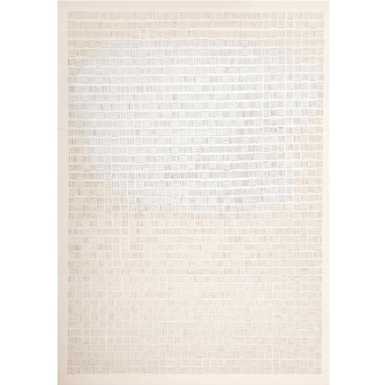 %22Proceso III%22, 2013, Serie- Procesos, Acrílico y grapas sobre papel de algodón, 57 x 76 cm